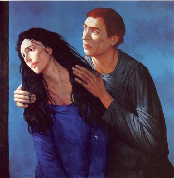 Marie-Madeleine et Jean près de la Croix