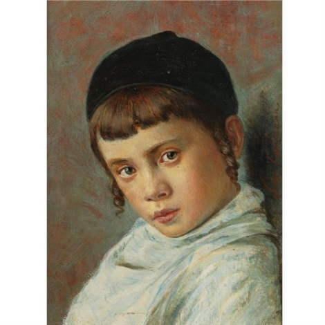 isidor-kaufmann-portrait-of-a-young-boy